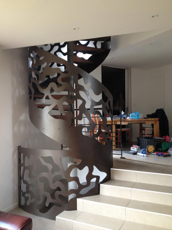 Création et installation d'un escalier en colimaçon